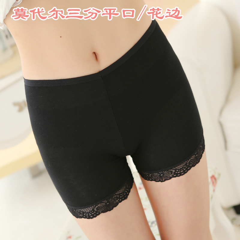 High Quality Modal Safety Short Pants Summer Women Underwear Plus Size High Quality Lace Pants in Safety Short Pants from Underwear Sleepwears