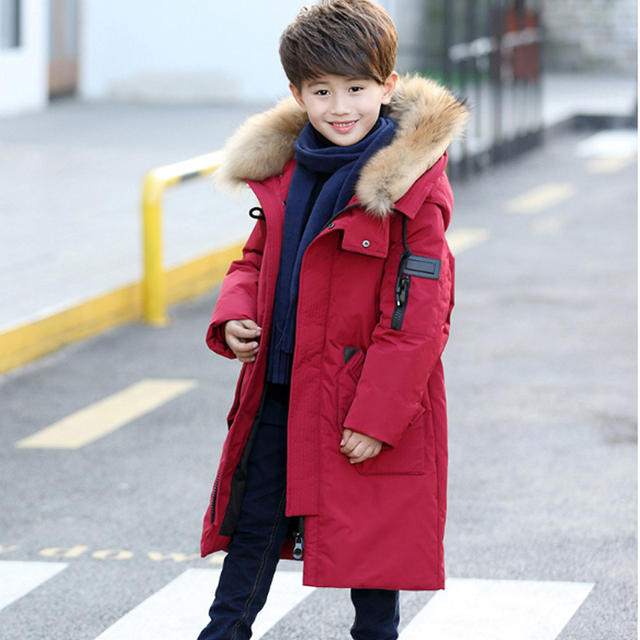 2387f25c7 Fashion Boysl Winter Down Jackets Kids Clothing Korean Child Thick ...