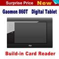 Envío de La Venta Caliente GAOMON 860 T Tableta de Dibujo Tableta Gráfica Digital Pen Tablets USB Soporte Para Tarjetas TF Con Digital pluma