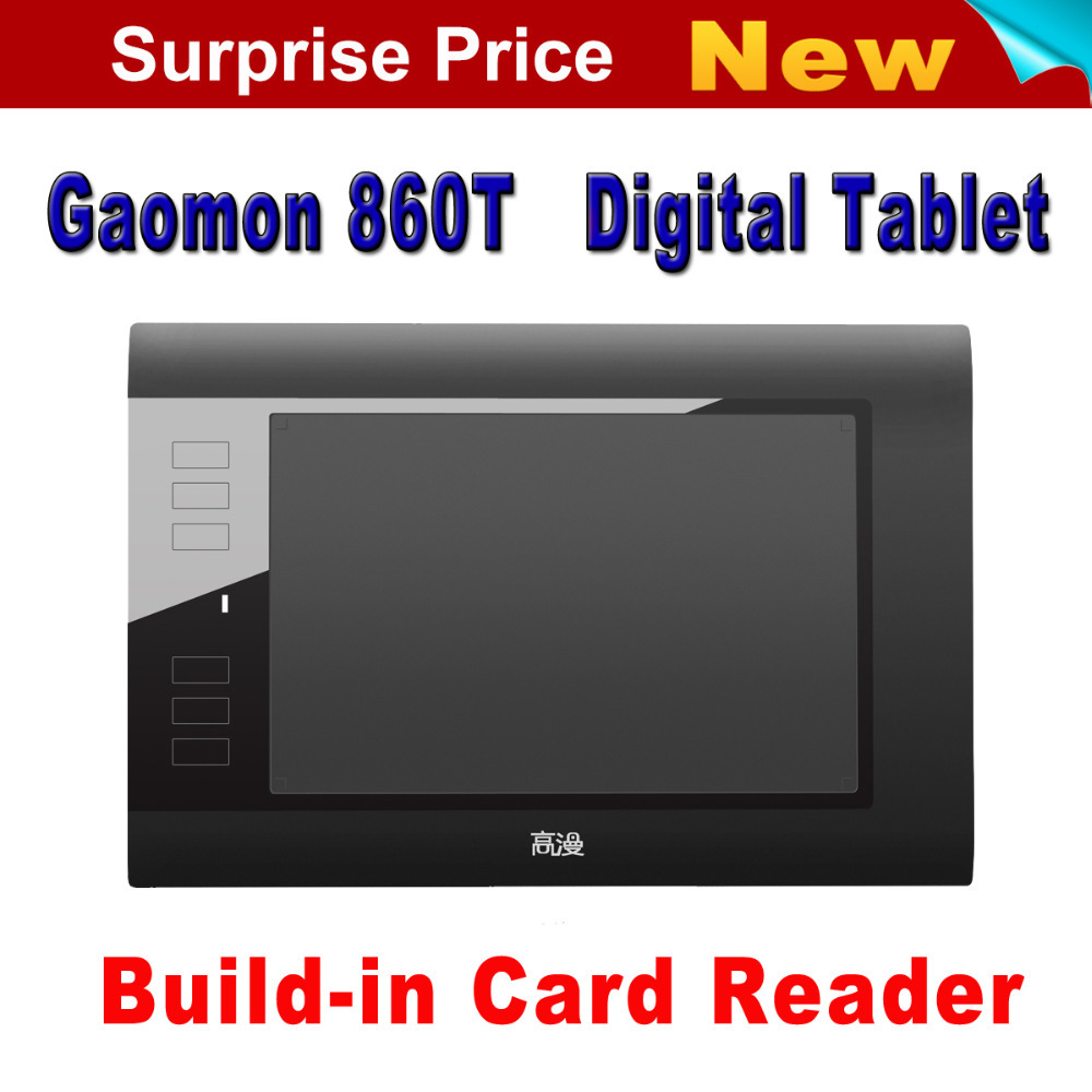 Free Shipping Hot Sale GAOMON 860T Graphics Tablet Digital Pen Tablets USB Drawing Tablet Support TF Card With Digital Pen