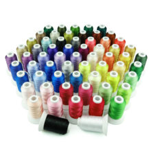 63 Polyester Computer Machine Embroidery Thread Filament Polyester 550 Yrds *63 Asssorted Colors , High Strength ,Super Sheen(China)