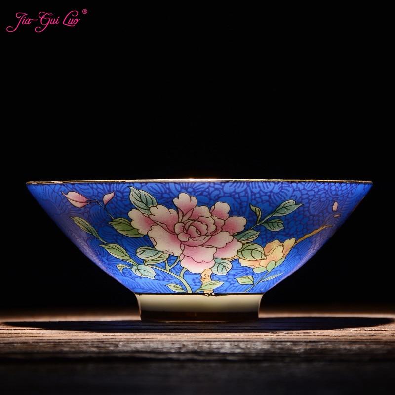 Jia-gui luo Chinese ceramics Jingdezhen tea cup ceramic pastel technology beautiful generous