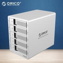 "ORICO 9558RU3 5 buchten 3,5 ""USB3.0 ESATA Raid HDD Gehäuse 5 bay HDD Docking Station Fall für Laptop PC (silber)"