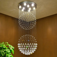 Luxury Crystal Chandeliers Contemporary Lamp GU10 LED Crystal Lights Chandelier Hanging LED Lamp Bedroom Decoration