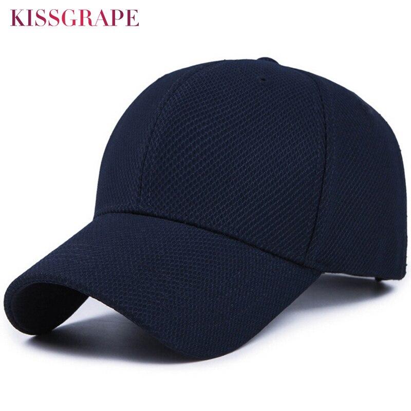 be80fef9d1f0c New Unisex Baseball Cap for Women Men Mesh Baseball Cap Male Bone Snapback  Cotton Hats Black