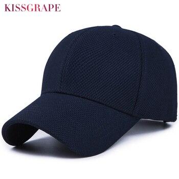 New Unisex Baseball Cap Women Men Mesh Baseball Cap Male Bone Snapback Hat Black Gorras Outdoor Sport Cap Solid Color Adjustable