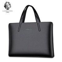 2017 Original LAORENTOU Brand Business Briefcase Men Genuine Leather Handbag Laptop Bag Top Quality Real Leather
