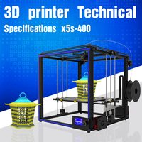 TRONXY? X5S 400 DIY Aluminum 3D Printer Kit 400*400*400mm Large Printing Size With Dual Z axis Rod