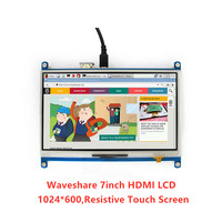 Waveshare 7inch HDMI LCD 1024 * 600 Resistive Touch Screen LCD Display Tablet,HDMI interface, for Raspberry Pi