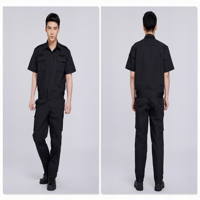 Training uniform security men suit summer short-sleeve work wear set short-sleeve