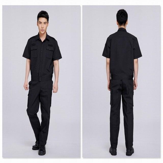 Traje de los hombres de verano de manga corta uniforme de entrenamiento ropa de trabajo conjunto de manga corta