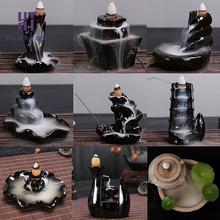 Mini Ceramic Smoke Backflow Tower Incense Burner Aroma Different Style For Choose F