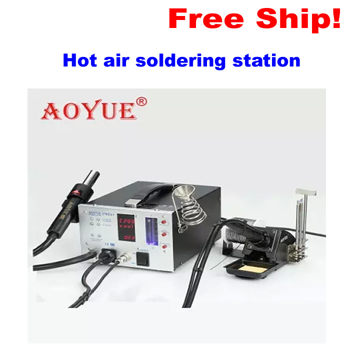 hot air soldering station Lead-Free repairing system AOYUE 2702A+ 220V Hot air gun+Desoldering gun+soldering iron esd safe aoyue 768 repairing system digital display hot air gun soldering station mobile dc power supply 3 in 1 system