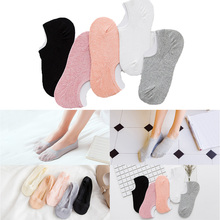 5 Pairs Women Cotton Low Cut Boat Socks High Quality Summer Solid Color Socks SCKTC0009