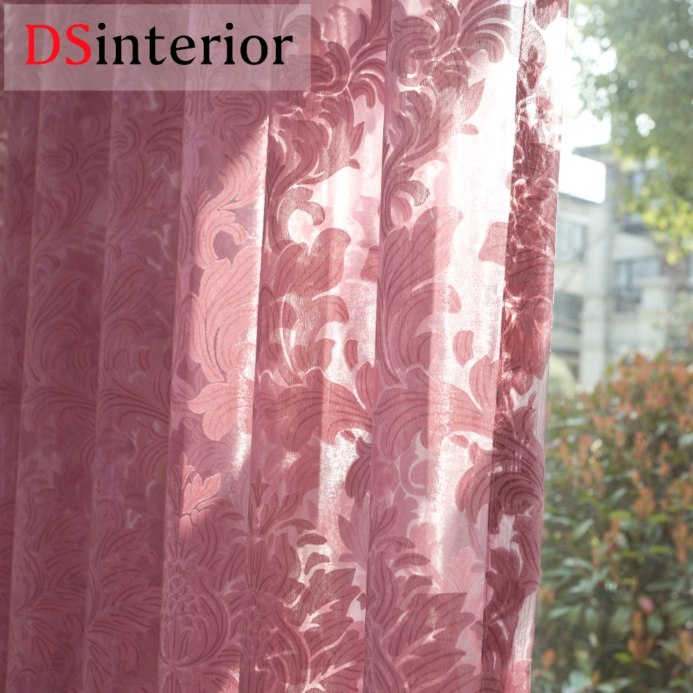 DSinterior klassisk stil sheer tulle gardin til - Hjem tekstil