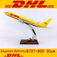 30CM 1: 230 skala Boeing B737 800 modell DHL Express lieferung airline mit basis legierung flugzeuge flugzeug sammeln display sammlung