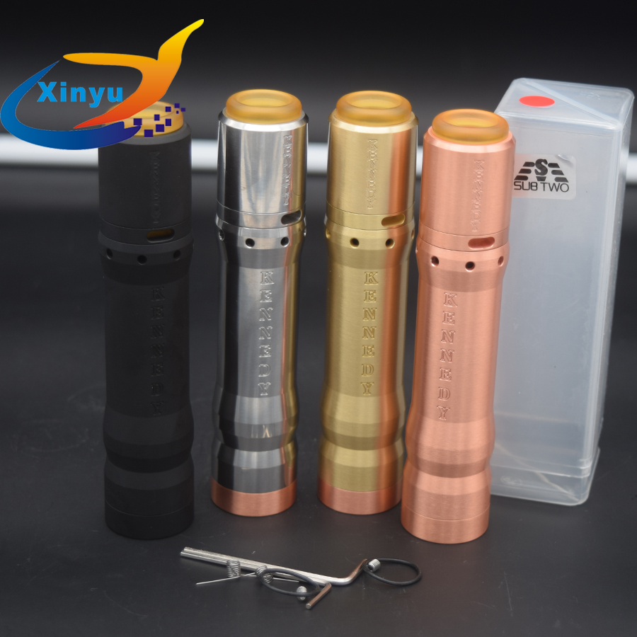 2018 NEWEST Kennedy 25 Kit Vindicator Mech Mod Kit 18650 20700 21700 Battery 26mm diamater brass red copper Vaporizer Mod KIT2018 NEWEST Kennedy 25 Kit Vindicator Mech Mod Kit 18650 20700 21700 Battery 26mm diamater brass red copper Vaporizer Mod KIT
