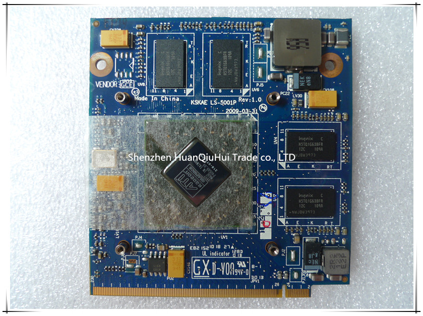 For <font><b>TOSHIBA</b></font> <font><b>L500</b></font> L505 laptop HD4650M VAG Card 1G ATI 216-0729042 k000083290 LS-5001P MXM II DDR3 VGA Video Card Graphic Card image