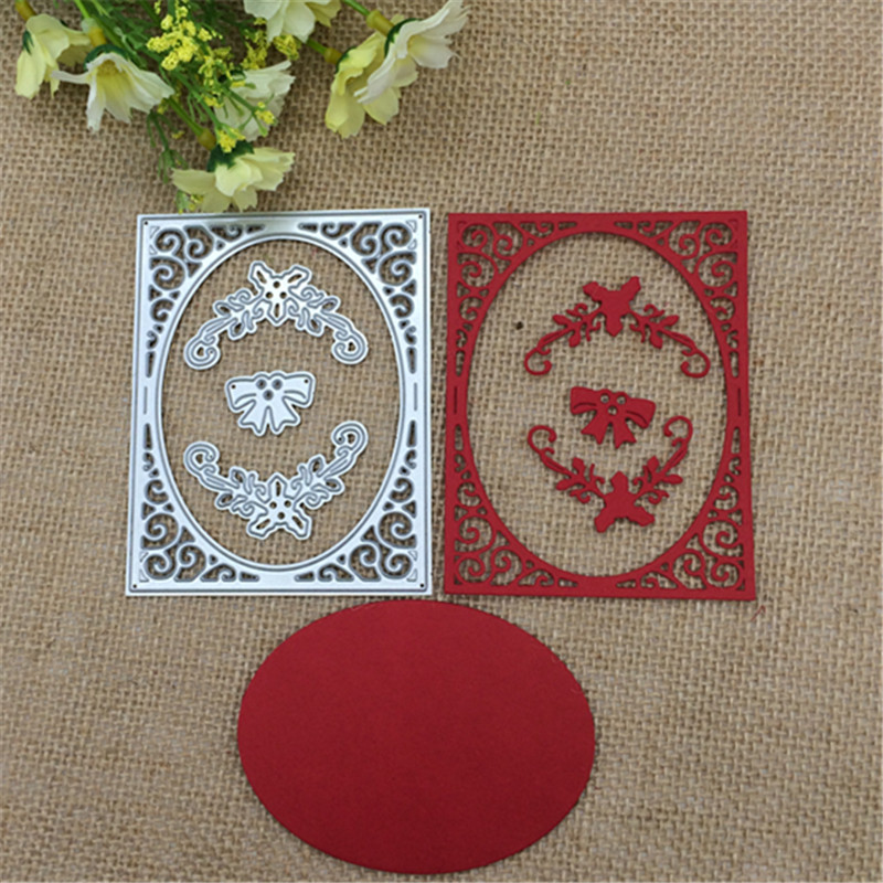 Hollow Frame Metal Cutting Die Stencil Scrapbooking Album Embossing DIY Crafts