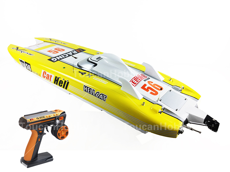 G30E ARTR-RC FiberGlass Gasoline RC Racing Boat 30CC Engine RadioSys Servos Yellow aluminum water cool flange fits 26 29cc qj zenoah rcmk cy gas engine for rc boat