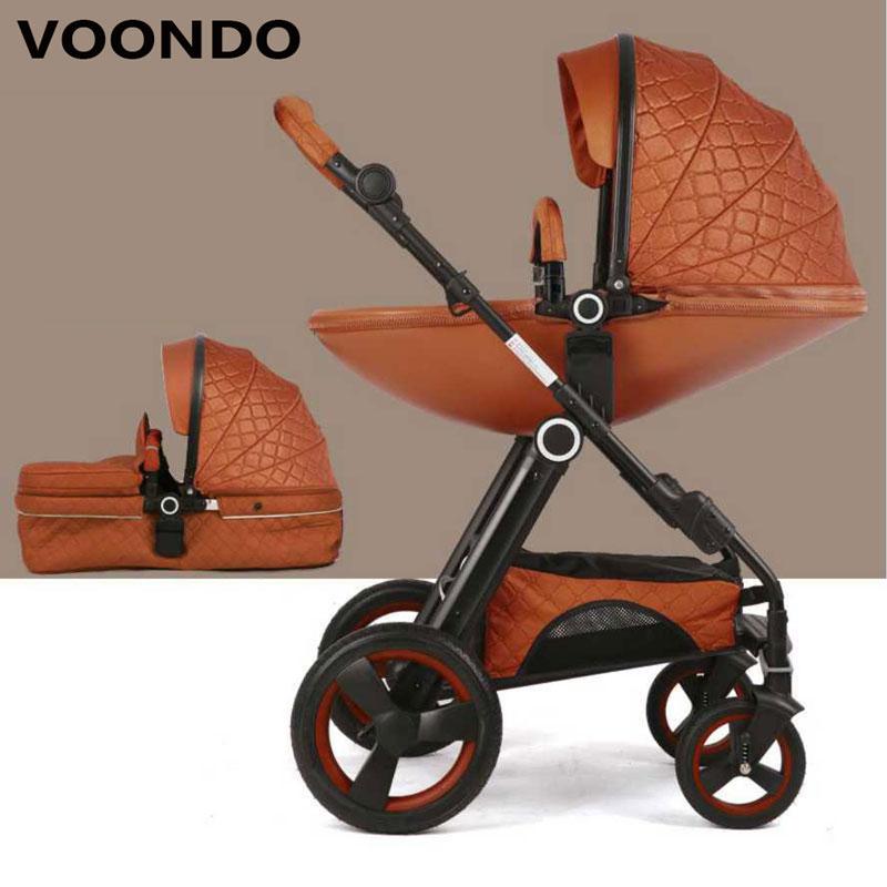 VOONDO del bambino passeggino pieghevole alta landing double-sided ammortizzatore telaio In Alluminio a forma di Uovo culla disegno bionic