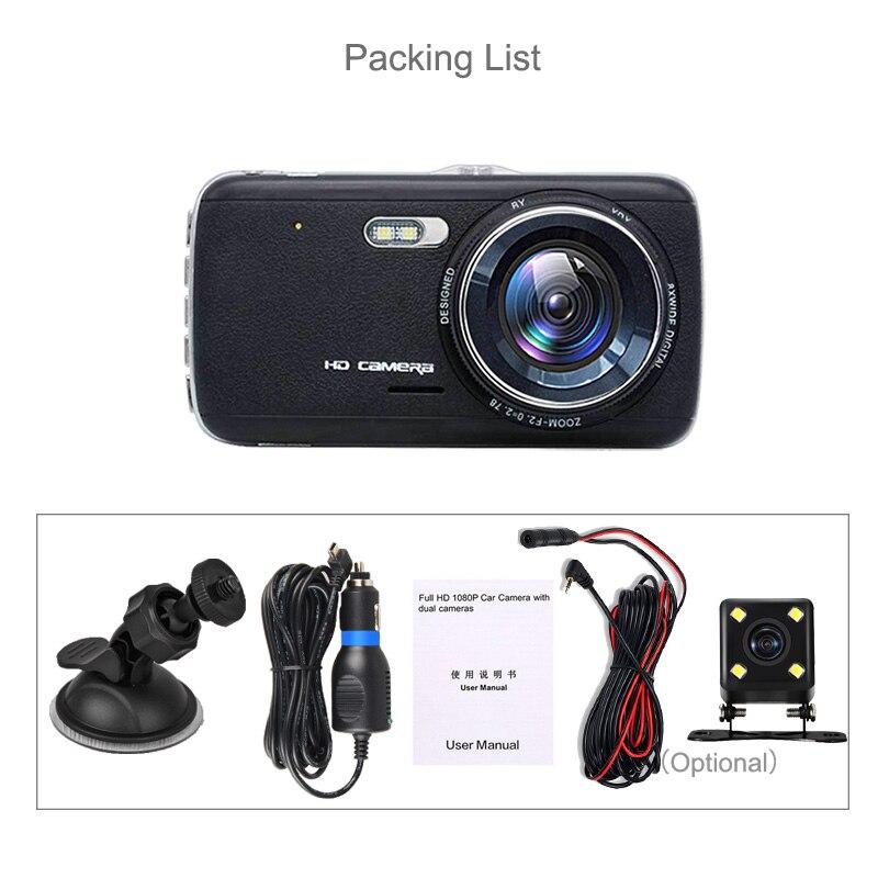 E-ACE Auto DVR Camera Dashcam Dual Lens Met LDWS ADAS - Auto-elektronica - Foto 6
