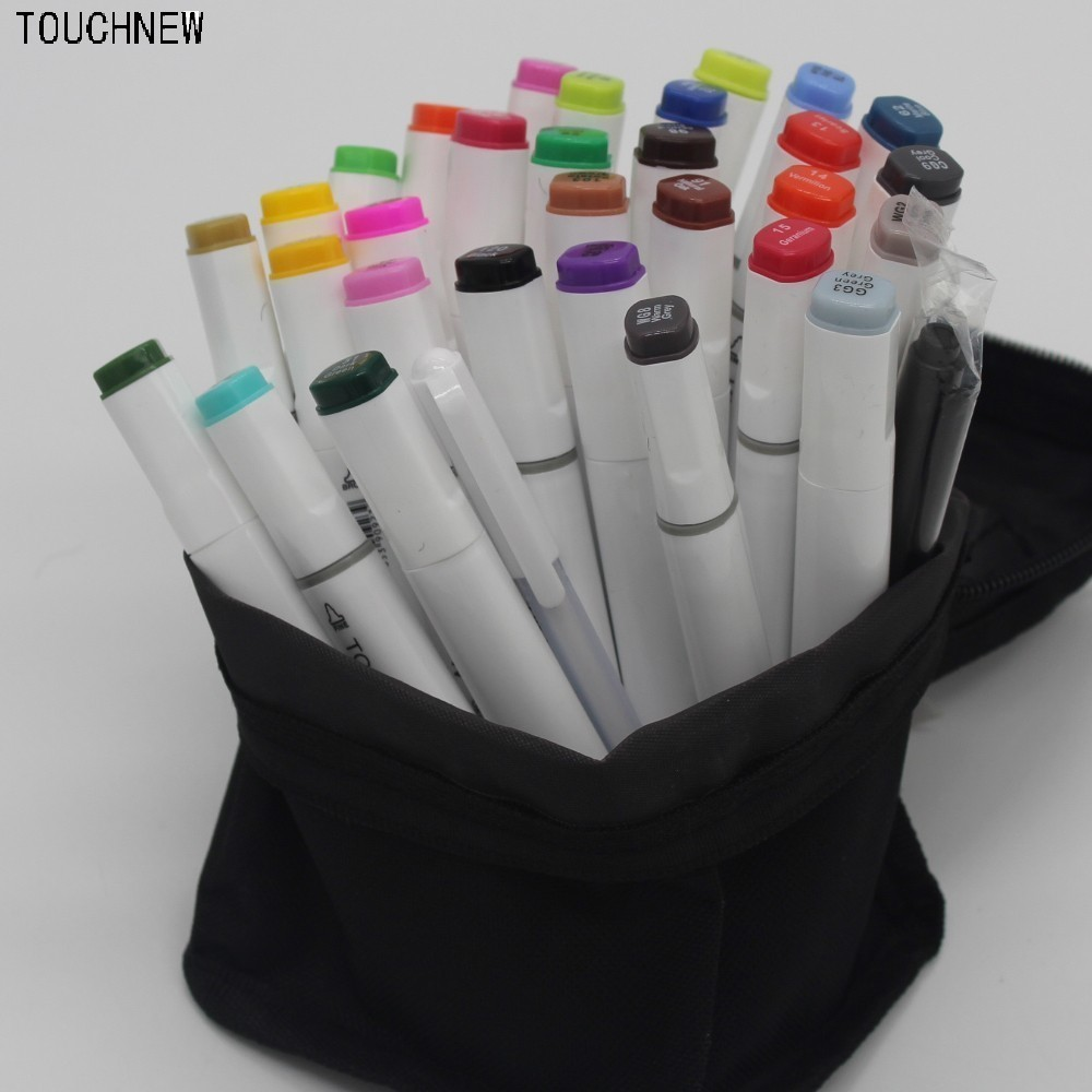 (Give two markers pen)TOUCHNEW six generation art Mark pen alcohol oily double-headed 30 36 48 color fine Yes drawings manga free shipping alcohol oil two headed art mark pen six generations upgrade 36 60 80 color fine markers manga drawing finecolour