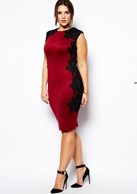 eecfbdc82ca7 2015 hot sale plus size sexy red dress casual dress women for wedding big  flower lace up work dress freeshipping