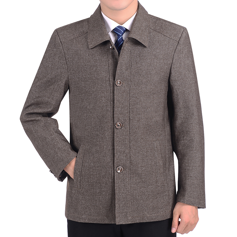 2019 Новинка весны отца с лацканами пальто осень тонкий среднего возраста и старика куртки и пальто A90