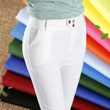 Восточные Ворота весной 2016 новый Корейский моды цвет поясной эластичный дышащий тонкий брюки тощий
