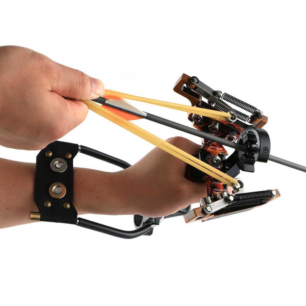Toptir à l'arc puissant pêche fronde tir à l'arc professionnel réglable ensemble de pêche avec brosse à flèche avec élastique