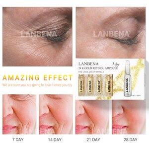 Image 3 - Lanbena顔アンプル血清レチノール + Q10 + ヒアルロン酸 + ビタミンc + アンチエイジングむくみしわ保湿血清スキンケア
