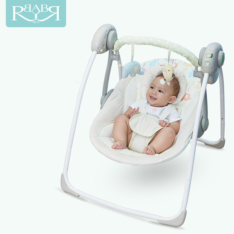 Babyruler Electric Baby Swing Chair Bouncer Music Rocking For Baby Bebek Salincak Newborn Baby Sleeping Basket automatic cradle baby rocker newborn baby swing portable carrier rocking chair baby bouncer toddler sleeping seat rocking swing chair cradle