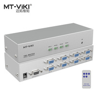 MT VIKI 4 in 4 out VGA Video Switch Splitter PC Selector Image Distributor IR Remote RS232 Serial Control 4X4 MT 404CB