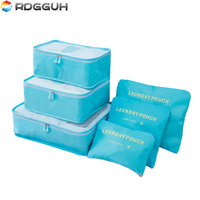 RDGGUH Brand 6 PCS Travel Storage Pouch Set For Clothes Tidy Organizer Bag Suitcase Home Closet