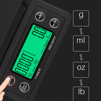 1 Pcs Electronic Coffee Scale Portable with Timer LCD Digital Weighing Tool for Kitchen H99F|Kitchen Scales| |  -