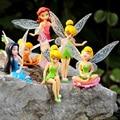 6 Unids/set Flying Flower Fairy Tinkerbell Muñecas de Regalo de Navidad Niños Niños Niñas Juguetes Muñecas de Animación de Dibujos Animados Juguete Del Bebé