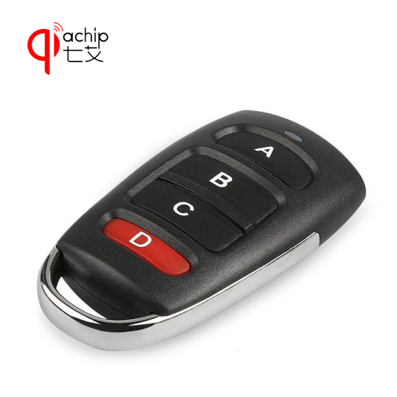 QIACHIP 4 buttons RF 433MHz Remote Control Duplicator Cloning Gate for Garage Door Opener Learning Copying Transmitter Key Fob 433 mhz rf 4channel remote control copy code grabber cloning electric gate duplicator key fob learning garage door came remote