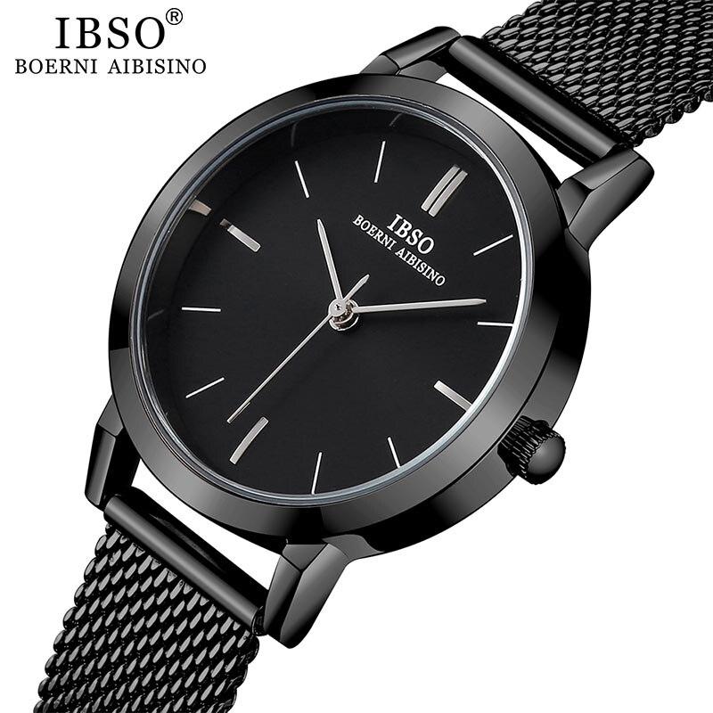 Image 5 - IBSO ブランドの女性のクォーツ時計 8  ミリメートル超薄型メッシュステンレススチールストラップクォーツ時計時間女性シンプルなレロジオ masculino     グループ上の 腕時計 からの レディース腕時計 の中