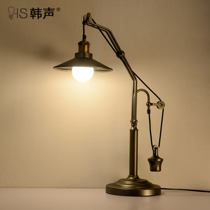 Американский кантри ретро спальня прикроватный настольная лампа книга творческого обучения исследование настольная лампа