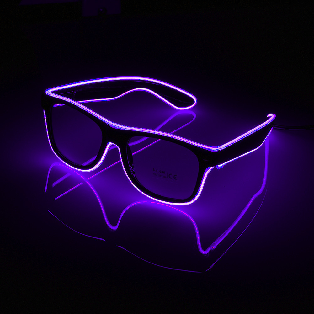 Luminous LED Glasses Bar Party Fluorescent Dance DJ Bright Lamp Glasses EL Wire Neon LED Light Glow Atmosphere Activing Props