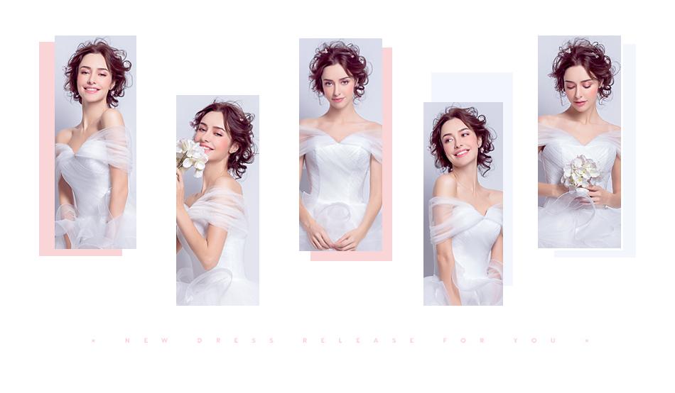 Angel Wedding Dress Marriage Evening Bride Party Prom Bridal Gown Vestido De Noiva 2017 Boat Neck asymmetrical7207 2