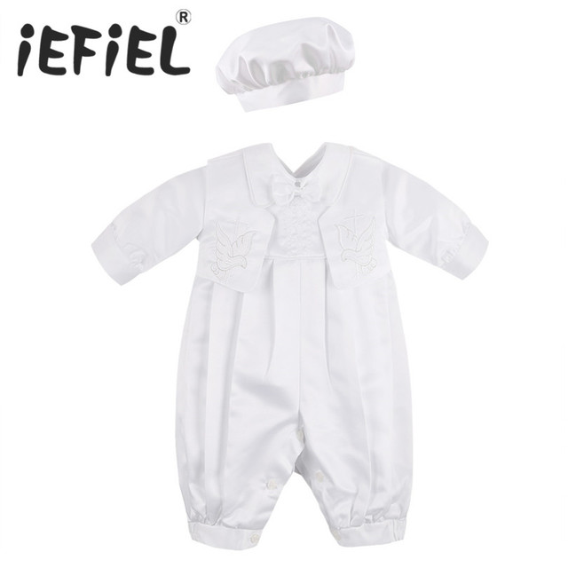 6c6a501fd787 iEFiEL Infant Baby Boys Christening Baptism Clothes Toddler Baptism ...