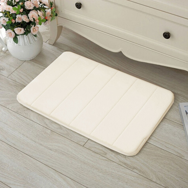 Por Memory Foam Rug Bath Pad Bathroom Bedroom Non Slip Mats Shower Carpet 78694