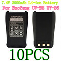 10PCS New Baofeng BL-B 7.4V 2000mAh Li-ion Battery for Baofeng UV-B5/UV-B6 Walkie Talkie