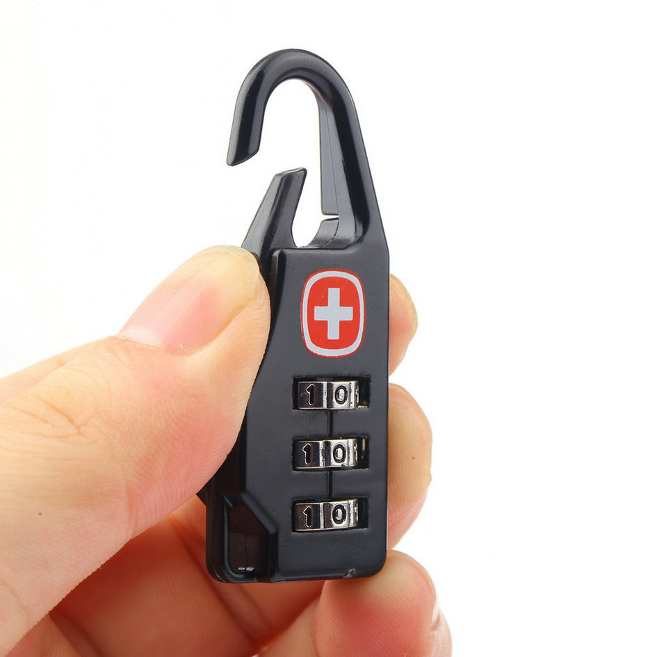 1Pcs Swiss Cross Symbol Combination Safe Code Number Lock Padlock for Luggage Zipper Bag Backpack Bag Suitcase Drawer Cabinet 20