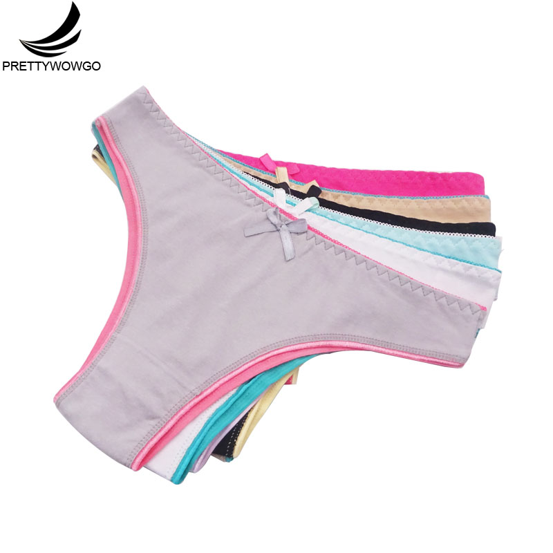 Prettywowgo 6 pcs/lot New Arrival 2019 Women   Panties   Sexy Women Cotton Bikini Underwear 9291