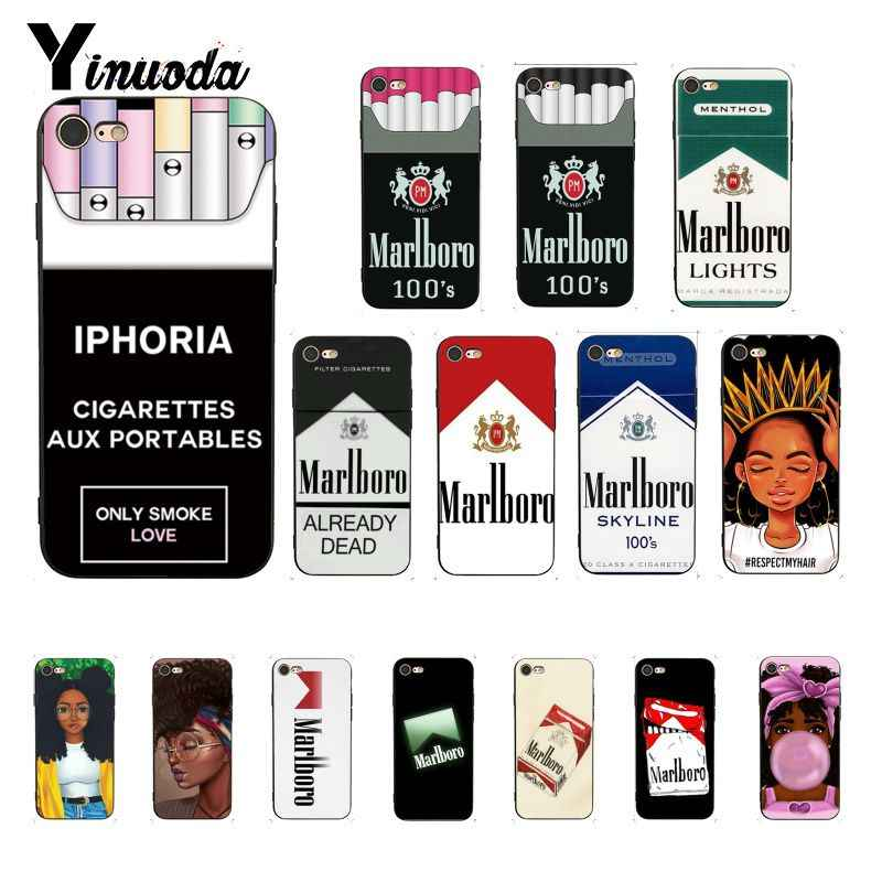 Yinuoda MELANIN POPPIN Fashion Cigarette smoke Fundas Phone Case Cover for iPhone 8 7 6 6S 6Plus X XS MAX 5 5S SE XR 10 Cover
