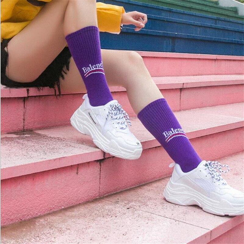 c58e3e8845db 2019 New Socks English Alphabet Socks Male And Female Short Soft Fashion  Elastic Cotton Socks Autumn