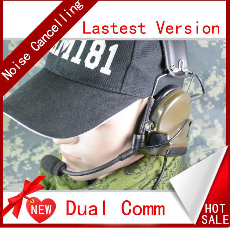 TCA Tactical ComTac III Dual Com Pickup Noise Reduction Headset Earphone  for tca TRI HARRIS PRC-152 PRC-148 Walkie Talkie Radio